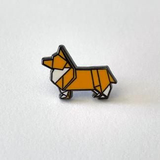 Origami Corgi Pin