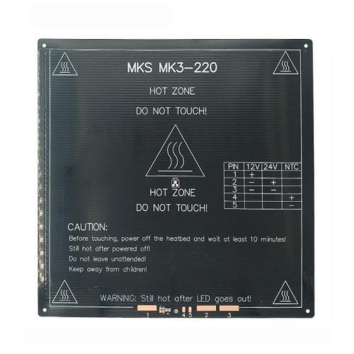 cama caliente mk3, 22x22-cm