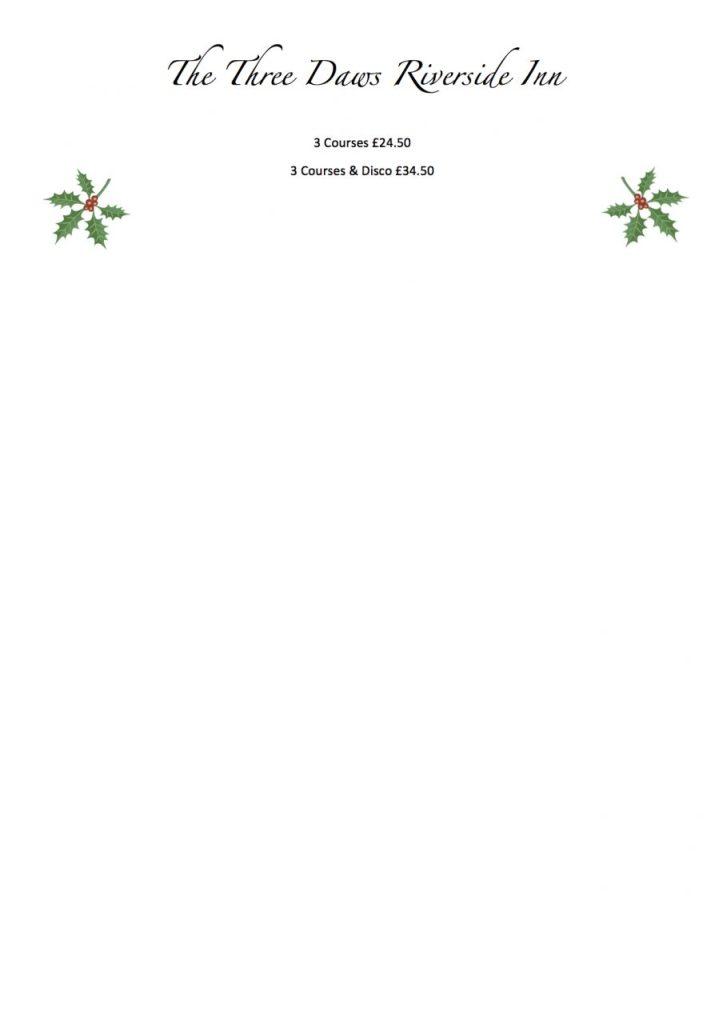 2017 - Xmas Menu page 2