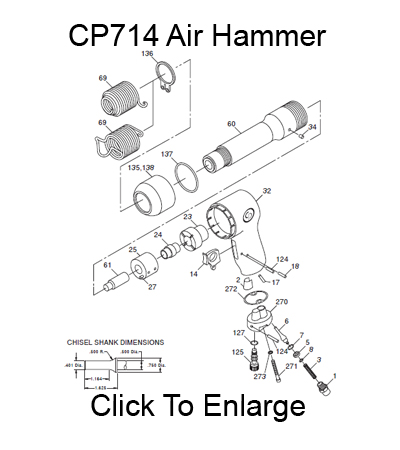 CP 714 Air Hammer Schematic Three Day Tool