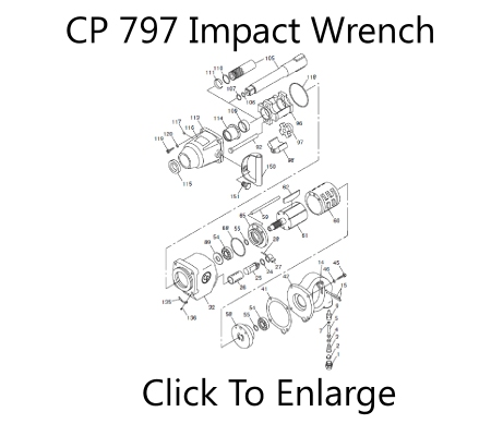CP 797 Impact Wrench Schematic Three Day Tool