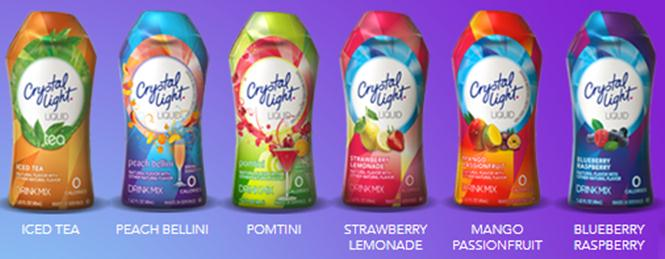 New 0 Calorie Crystal Light Liquid Three Different