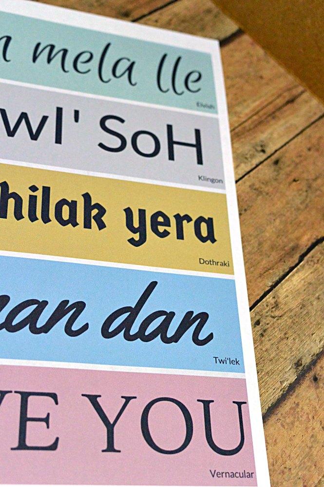nerd love language printable