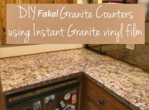 Transform Your Countertops with a DIY Fake Granite Counter ...