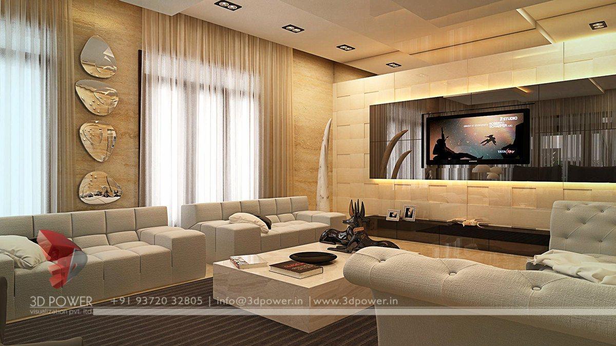 3D Living Room Interior Design  Interior Design