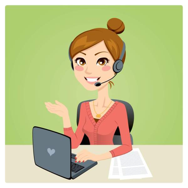 Call Center Clip Art Woman