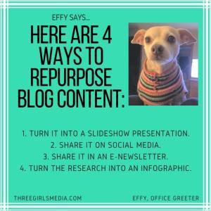 Effy Says…Repurpose Blog Content!