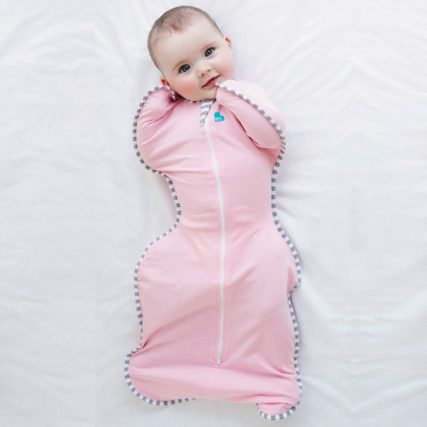 The only zip-up swaddle that allows you baby to sleep in a more natural position with arms-up.