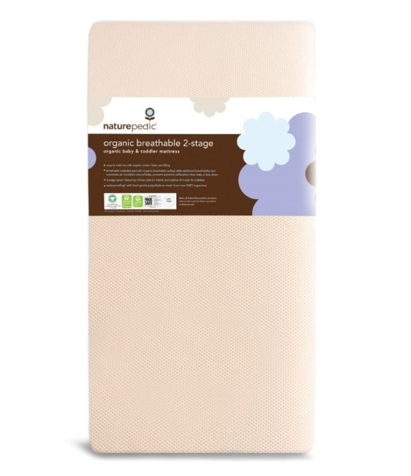 Naturepedic Organic Breathable 252 2-Stage Crib Mattress