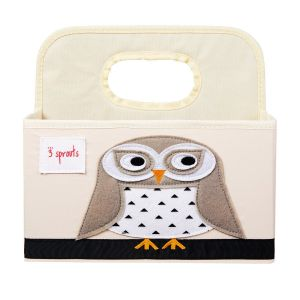 3 Sprouts Diaper Caddy - OWL