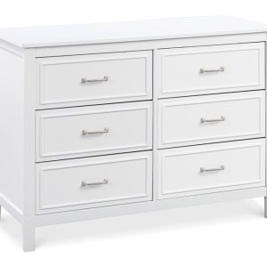 Charlie 6 Drawer Dresser - White