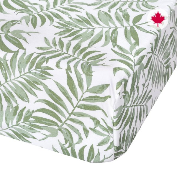 Perlimpinpin Fitted Sheet - Tropical Green