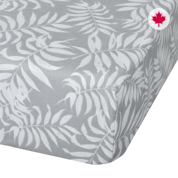 Perlimpinpin Fitted Sheet - Tropical Grey