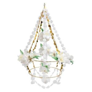 White Blossom Chandelier