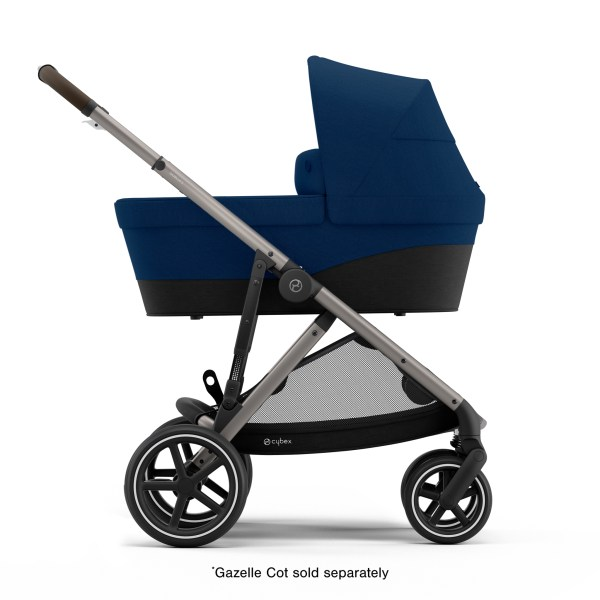 Turn stroller into pram with cot (sold separately)