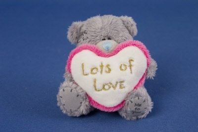 Me To You 3 Pink Heart Bear Lots Of Love