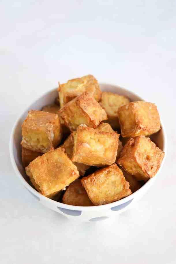 crispy oil-free oven baked tofu