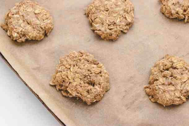 unbaked banana nut oatmeal cookies