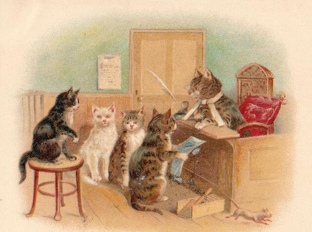 Three Little Kittens Purr Cards