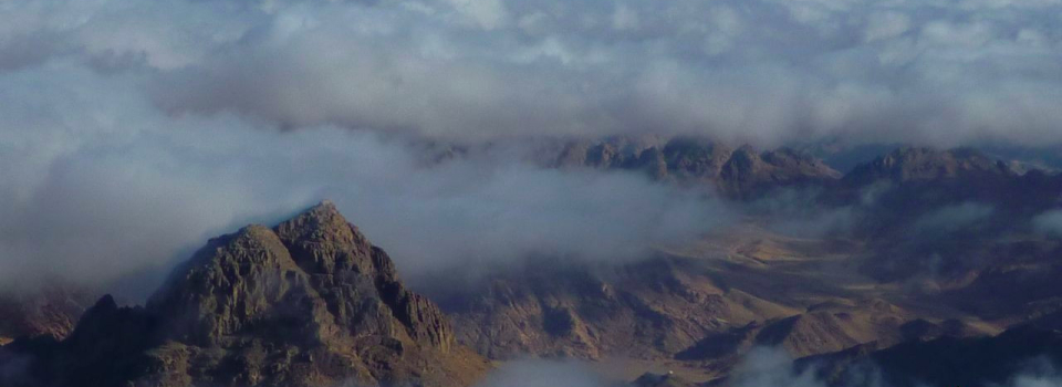Sinai under clouds, Three Peaks Egypt, Ben Hoffler