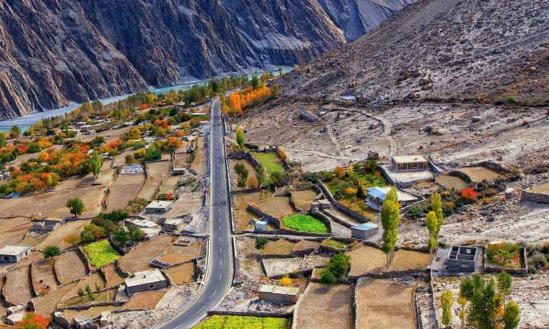 Gojal Valley borders China and Afghanistan, with its border meeting the Chinese border at Khunjerab — 15,397 feet above sea level — and remains covered with snow all year long.