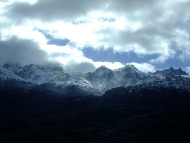 Snowy mountains in Patagonia