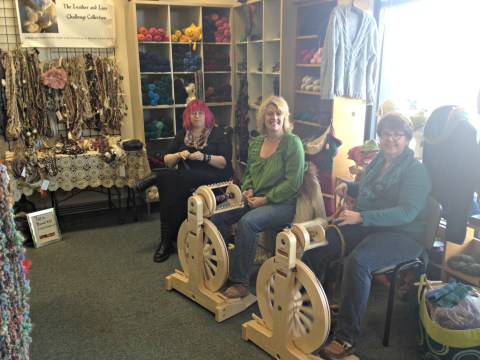 L to R: Me, Arlene Ciroula, Melissa Yoder Ricks. Photo by Jolene Mosley.