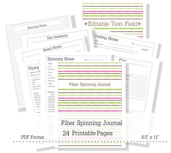 Printable Spinner's Journal