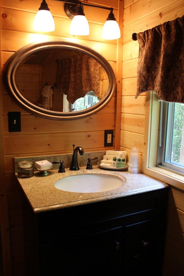 Homestead Bathroom at Three Rivers Ranch