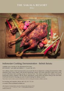 indonesian cooking demonstration every tuesday 6 p.m