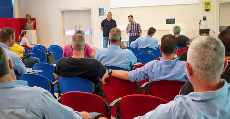 Συνάντηση του υποψήφιου βουλευτή της ΝΔ Σταμάτη Πουλή με το Σωματείο Εργαζομένων στη Χαλυβουργική