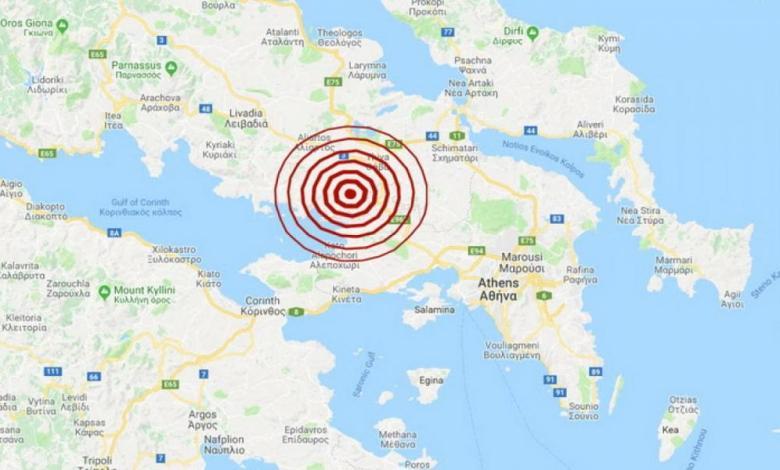 Νέος σεισμός 4,1 Ρίχτερ στη Θήβα – Αισθητός και στην Αττική