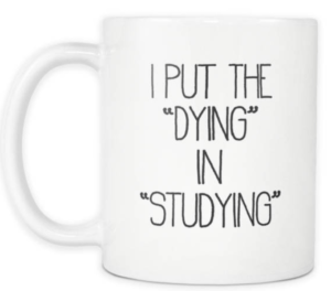 dying studying final exams student gcse a level university funny mug thrifdeedubai