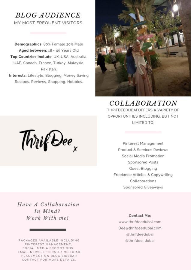 ThrifDeeDubai Blogger Collaborate with me