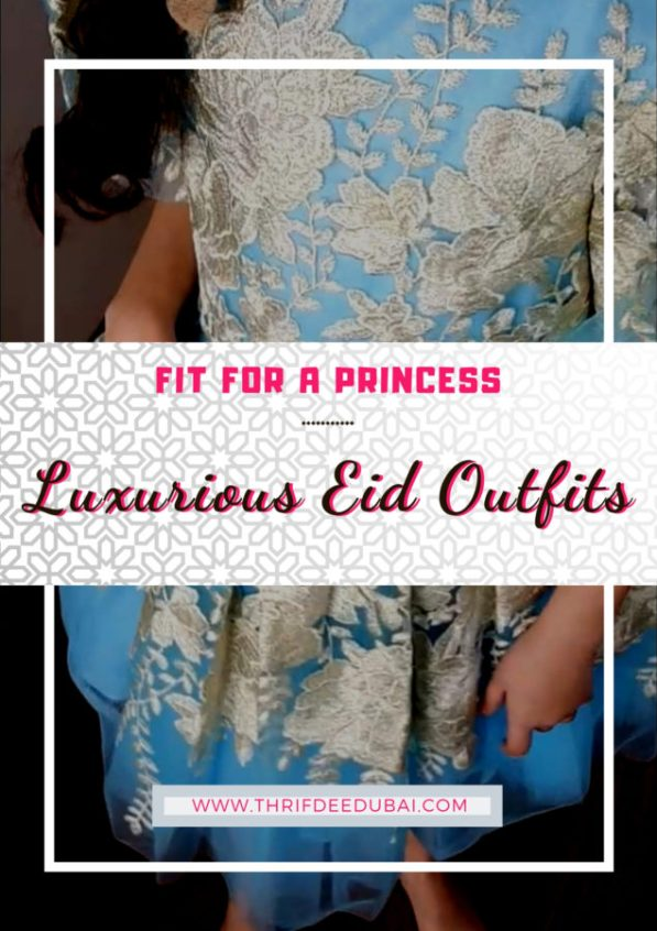 David Charles Childrenswear Ramadan/Eid 2019 Collection Review ThrifDeeDubai Pastel Blue & Gold Floral Dress featuring balloon hem sleeves, golden artisan embroidery & luxe tulle layers. #luxe #couture #kidsfashion #princess #cinderallastyle #eidoutfit #ramadan2019 #lifestyle #specialoccasion #ballgown #flowergirl #bridesmaid #pretty #colourpop #summerready #girlsstatementgowns #glamgirl #celebrateinstyle #ramadanstyle #dresstoimpress #eidonfleek