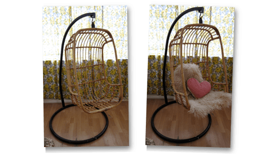 hanging chairs for sale folding zaisu chair 1960s 1970s wicker thrift ola with a starting price of super thrifty 99p