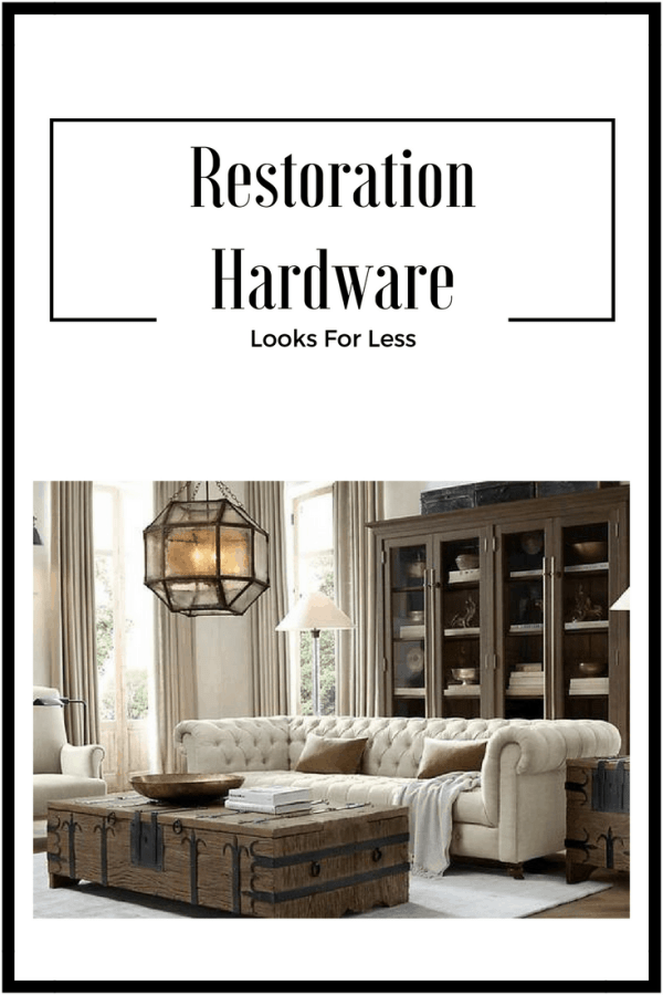 Restoration Hardware looks for less