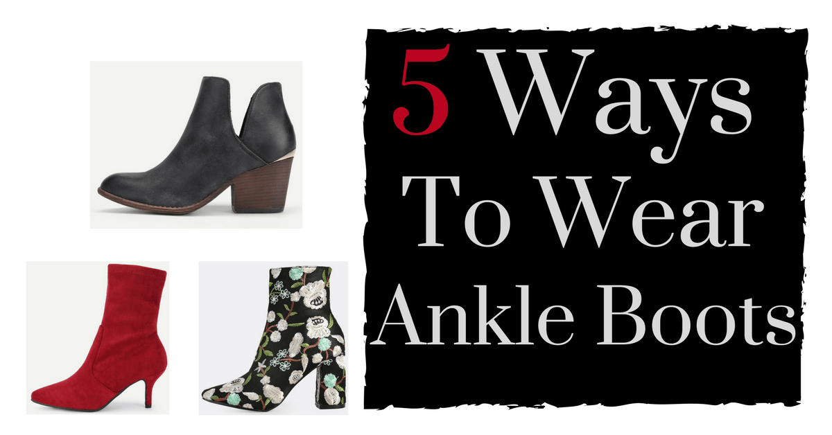 5 ways to wear ankle boots | Fall 2017 | Fall and Winter Trends | Thrifted & Taylor'd | www.thriftedandtaylord.com