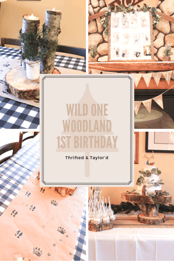 Wild ONE Woodland First Birthday Party | Thrifted & Taylor'd | #firstbirthday #firstbirthdayparty #woodlandbirthdayparty #wildone #wildonebirthdayparty