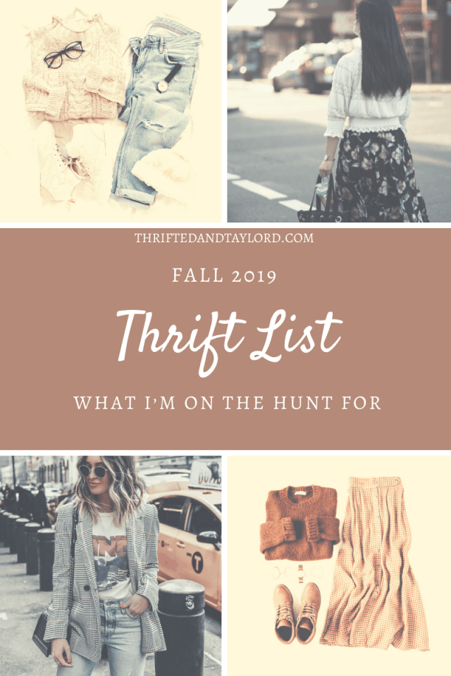Fall is just around the corner, have you started getting your wardrobe ready for the cooler weather? I will be thrifting fall fashion on my next thrift trip, check out what trends I am on the hunt for!