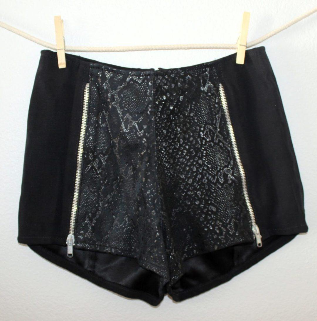 thrifted-black-cheetah-shorts
