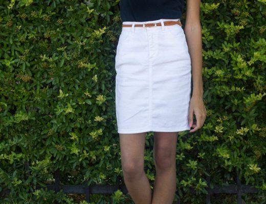 white-denim-skirt