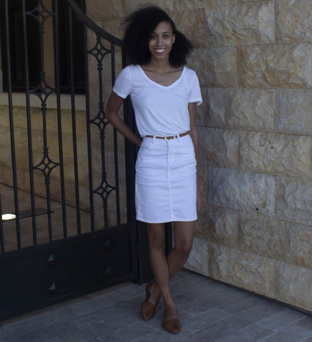 casual-outfit-denim-white-skirt
