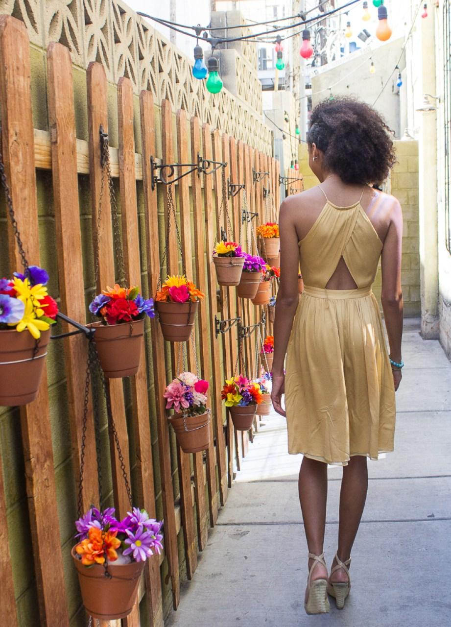 Mustard Yellow Thrifted Dress