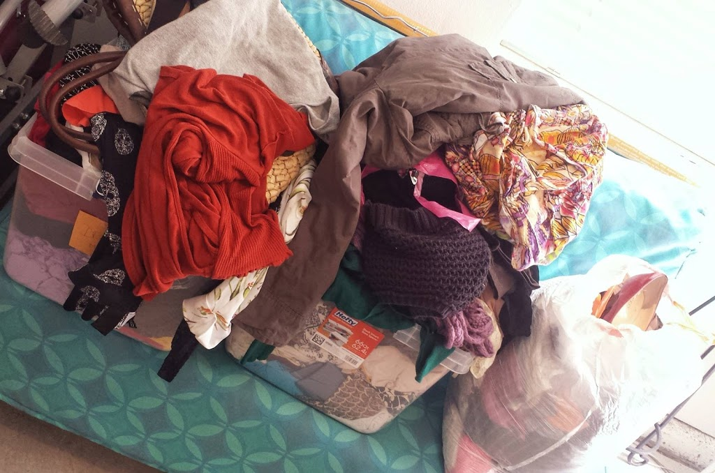 donations from clothing swap party