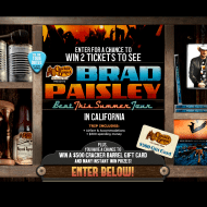Cracker Barrel Old Country Store Win a Trip to See Brad Paisley in Concert Sweepstakes ends 7/19
