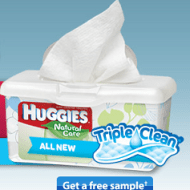 FREE Sample of Huggies Triple Clean Wipes