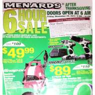 Menard's Black Friday Deals