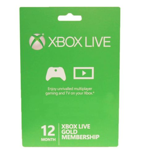 Microsoft Xbox LIVE 12 Month Gold Membership for Xbox 360