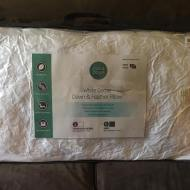 King Size Quilted White Goose Feather and Down Pillows Review